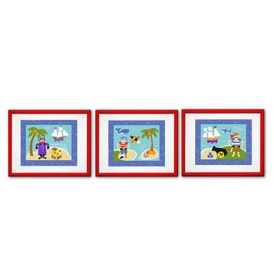 Pirates 3 Piece Framed Art Set FR-PIRA-308