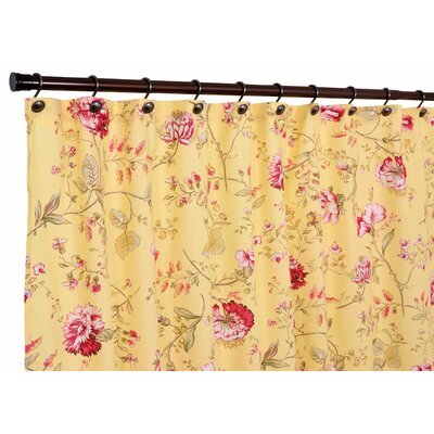 Coventry Medium Scale Floral Shower Curtain Color: Yellow