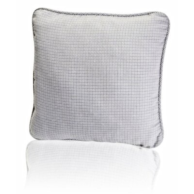 Landis Mini Check Textured Weave Toss Throw Pillow Color: Gray