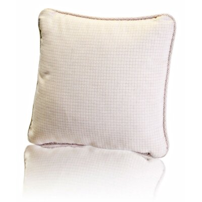 Carvalho Mini Check Textured Weave Toss Throw Pillow Color: Natural