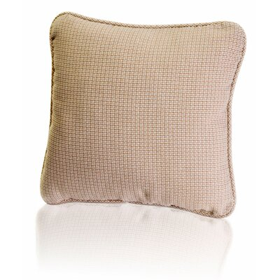 Landis Mini Check Textured Weave Toss Throw Pillow Color: Taupe