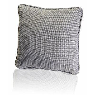 Carvalho Mini Check Textured Weave Toss Throw Pillow Color: Black