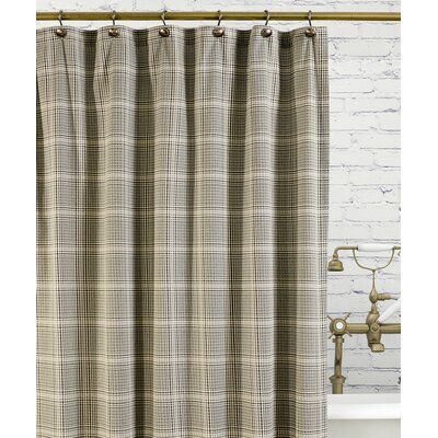 Morrison Cotton Plaid Shower Curtain Color: Black