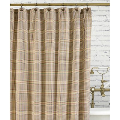 Morrison Cotton Plaid Shower Curtain Color: Patriot
