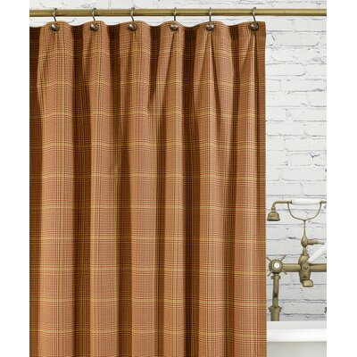 Morrison Cotton Plaid Shower Curtain Color: Rust
