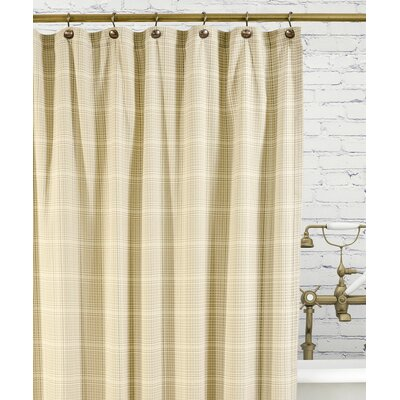 Morrison Cotton Plaid Shower Curtain Color: Natural