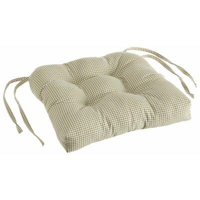Logan Dining Chair Cushion Color: Green