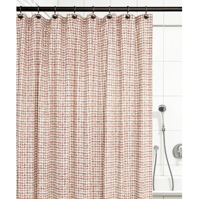 Breckan Ikat Check 100% Cotton Shower Curtain Color: Clay