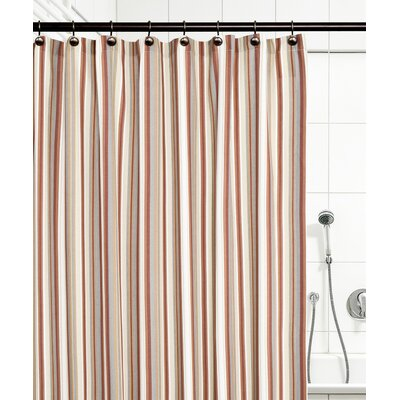 Jaden Stripe Shower Curtain Color: Clay