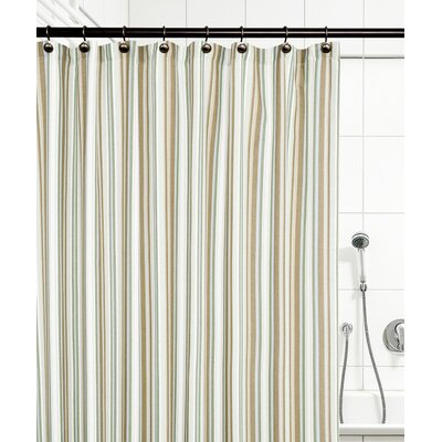 Jaden Stripe Shower Curtain Color: Spa