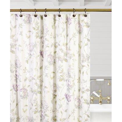 Kyra Hydrangea Shower Curtain Color: Lilac