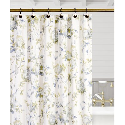 Kyra Hydrangea Shower Curtain Color: Porcelain