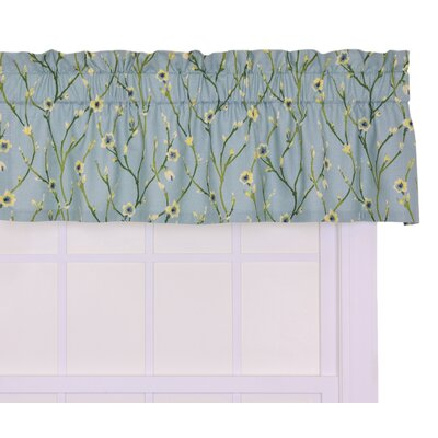 Ellis Curtain Cranwell Open Vine Tailored Valance Window Curtain Blue