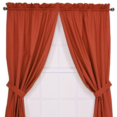 "Ellis Curtain Tremblay / Tyvek Diamond Tailored Curtain Panel Pair   - Size: 84"" H x 68"" W, Color: Blue at Sears.com"