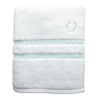 Pearl Essence Bath Towel Color: White / Mint