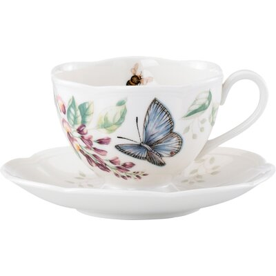 Butterfly Meadow 8 Oz. Butterfly Cup and Saucer 812098