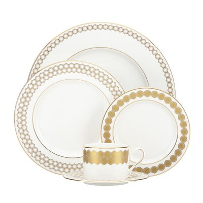 Prismatic 5 Piece Bone China Place Setting, Service for 1 858880