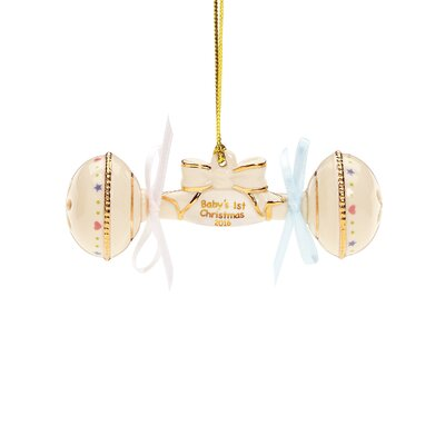 Baby's 1st Christmas 2016 Rattle Ornament