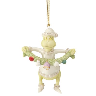 Grinch Stealing the Garland Ornament