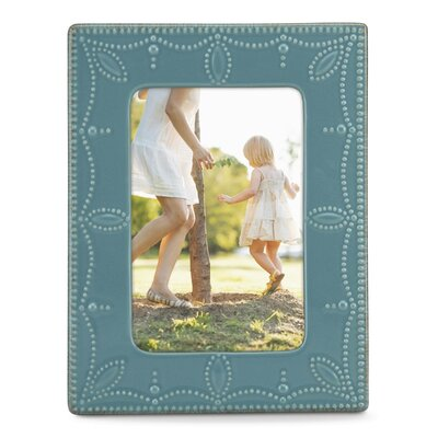 French Perle Picture Frame Color: Blue 869598