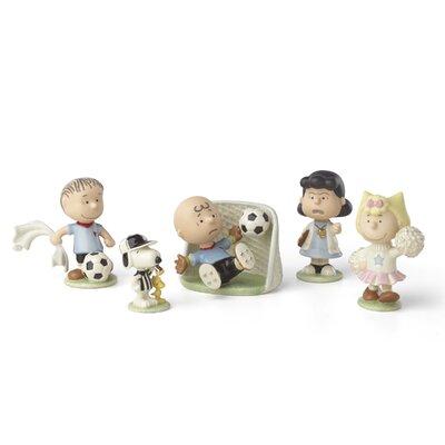 Peanuts Soccer 5 Piece Figurine Set 857523