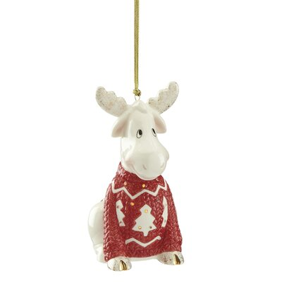 Christmas Sweater Moose Hanging Figurine Ornament 870927