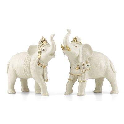Balinese Elephant 2 Piece Figurine Set 856274