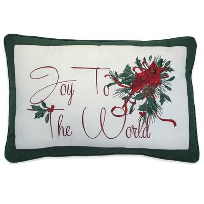 Winter Greetings Lumbar Pillow
