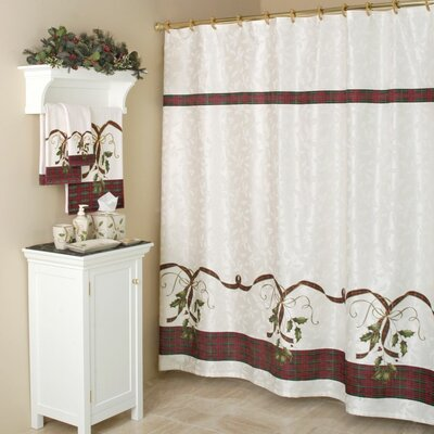 Holiday Nouveau Cotton Rod Pocket Curtain Single Panel