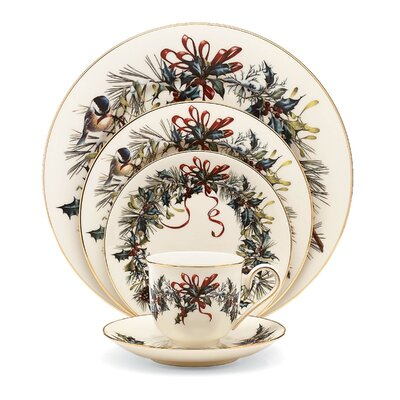 Winter Greetings Bone China 5 Piece Place Setting, Service for 1 185591602