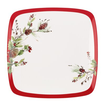 Winter Song Square Dinner Plate