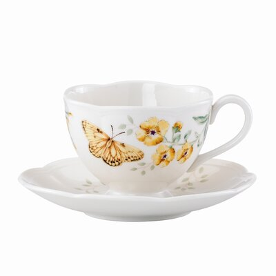 Butterfly Meadow 8 oz. Fritillary Cup and Saucer (Set of 4) 812463