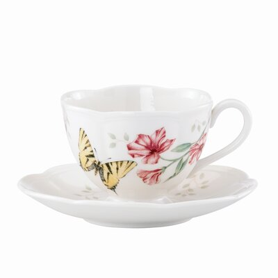 Butterfly Meadow 8 oz. Tiger Swallowtail Cup and Saucer (Set of 4) 812107