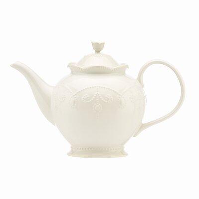 French Perle White Teapot