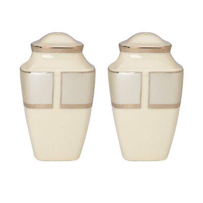 Ivory Frost Square Salt and Pepper Shaker Set 830396