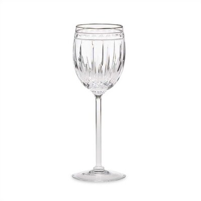 Vintage Jewel Platinum Crystal Wine Glass