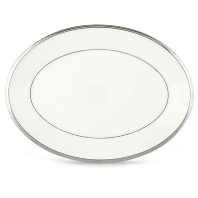 Solitaire White 13 Oval Platter