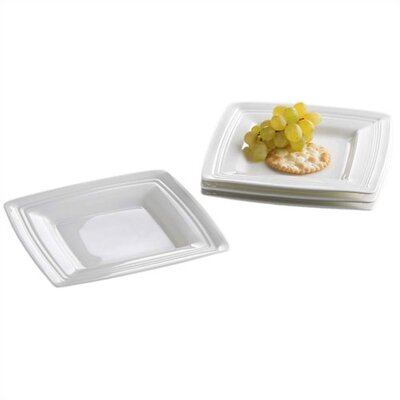 Tin Can Alley Square Appetizer Plates  Set Of 4