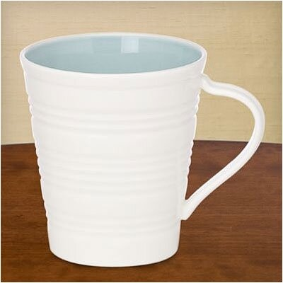 Tin Can Alley Four Degree Mug In Blue (set Of 4)