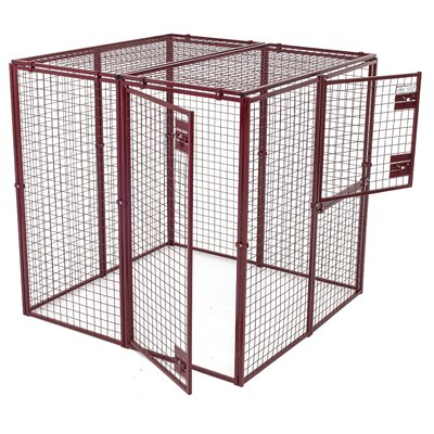 Heavy Duty Flat Covered Animal Pen/Cage Size: Mini (30 H x 60 W x 120 L)