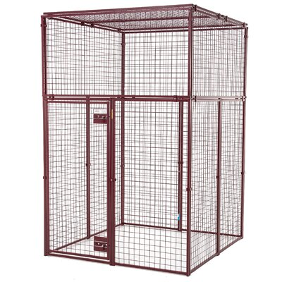 Heavy Duty Flat Covered Animal Pen/Cage Size: Small (60 H x 60 W x 60 L)