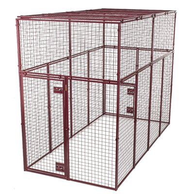 Heavy Duty Flat Covered Animal Cage