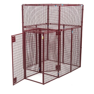 Norma Ultra Heavy Duty Flat Covered Animal Cage w/ Double Door Security Entrance
