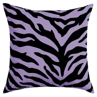 Zebra Cotton Throw Pillow Color: Lavendar
