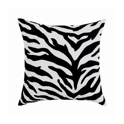 Zebra Cotton Throw Pillow Color: White