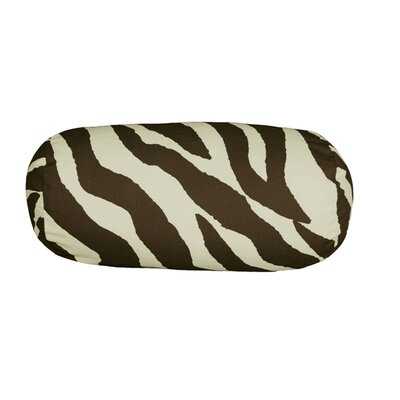 Zebra Neckroll Cotton Bolster Pillow Color: Brown