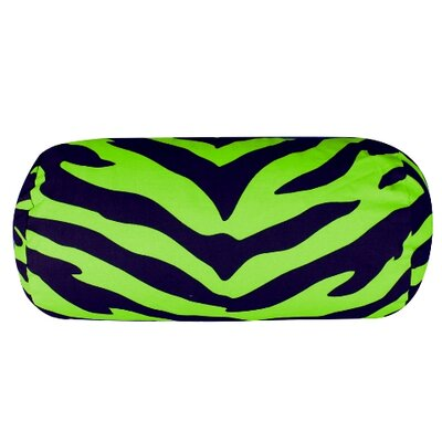 Zebra Neckroll Cotton Bolster Pillow Color: Lime