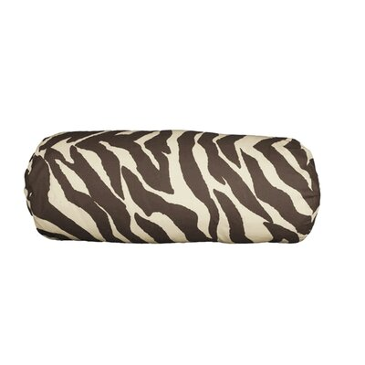 Zebra Cotton Bolster Pillow Color: Brown