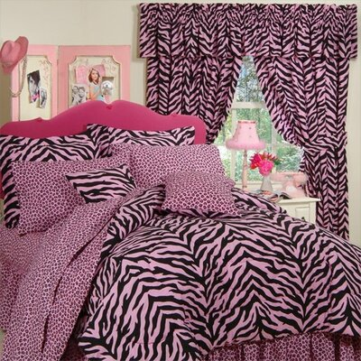 Zebra 4 Piece Bed-in-a-Bag Set Size: Full