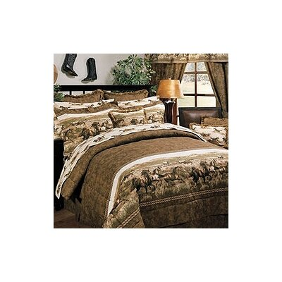Wild Horses 3 Piece Sheet Set Size: Full 07186000013KM